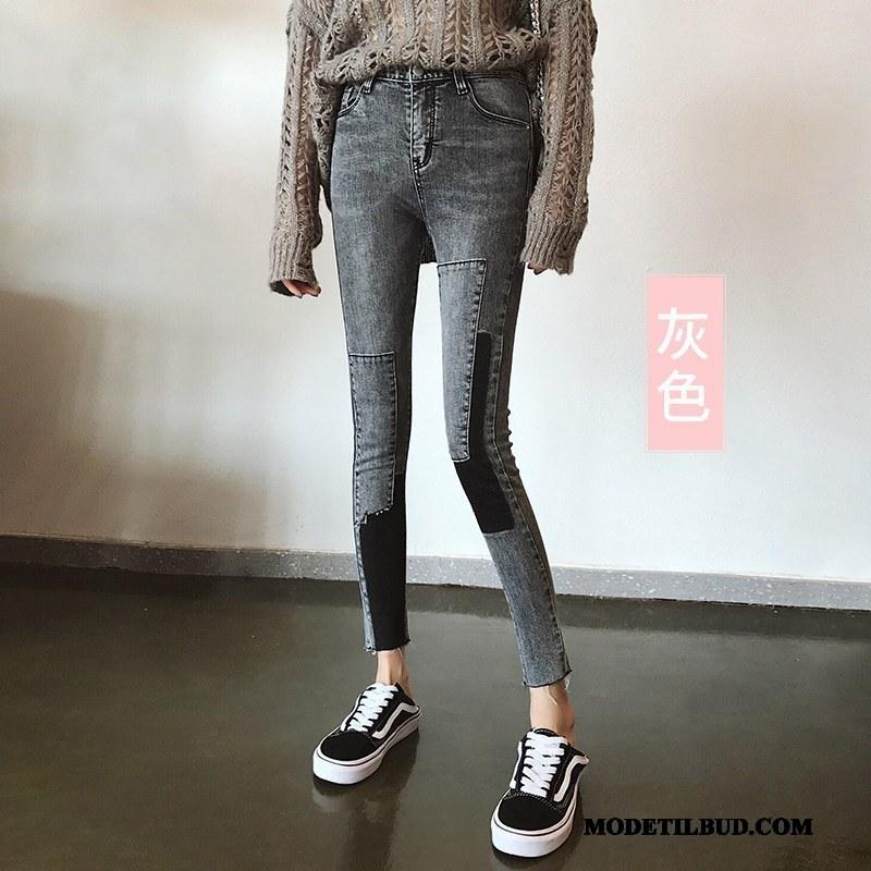 Dame Jeans Billige Skinny Kvinder Cowboybukser Jeans Cigaretbukser Forår Grå