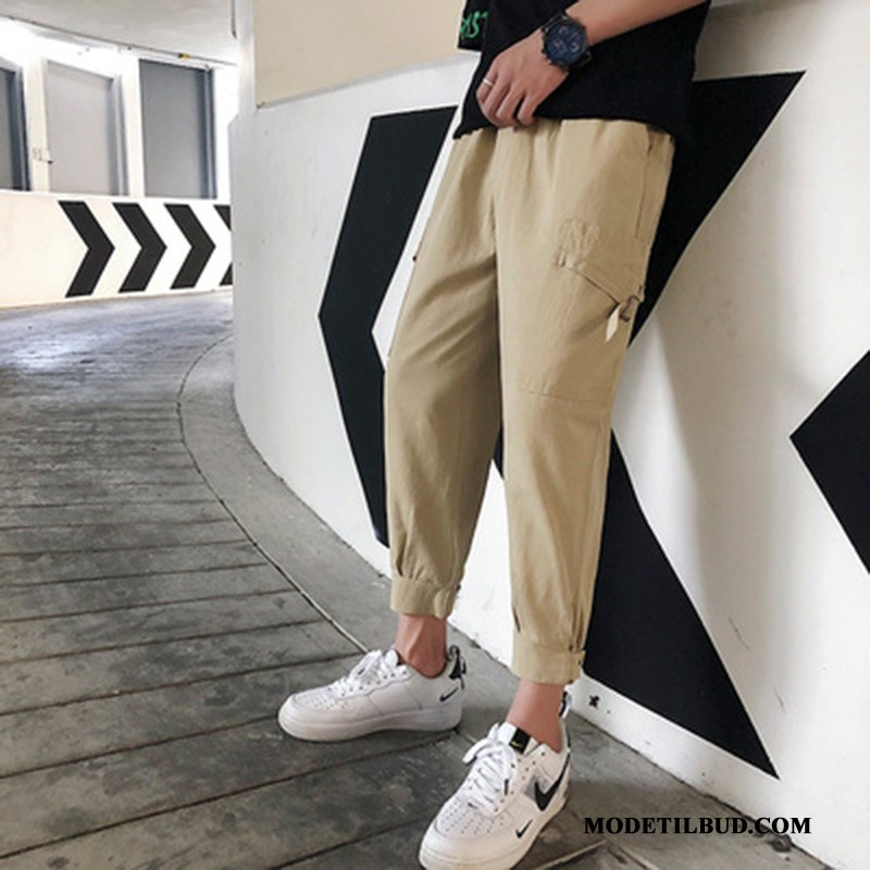 Herre Cargo Bukser Salg Slim Fit Trend Stramme Mænd Trendy Khaki Rød