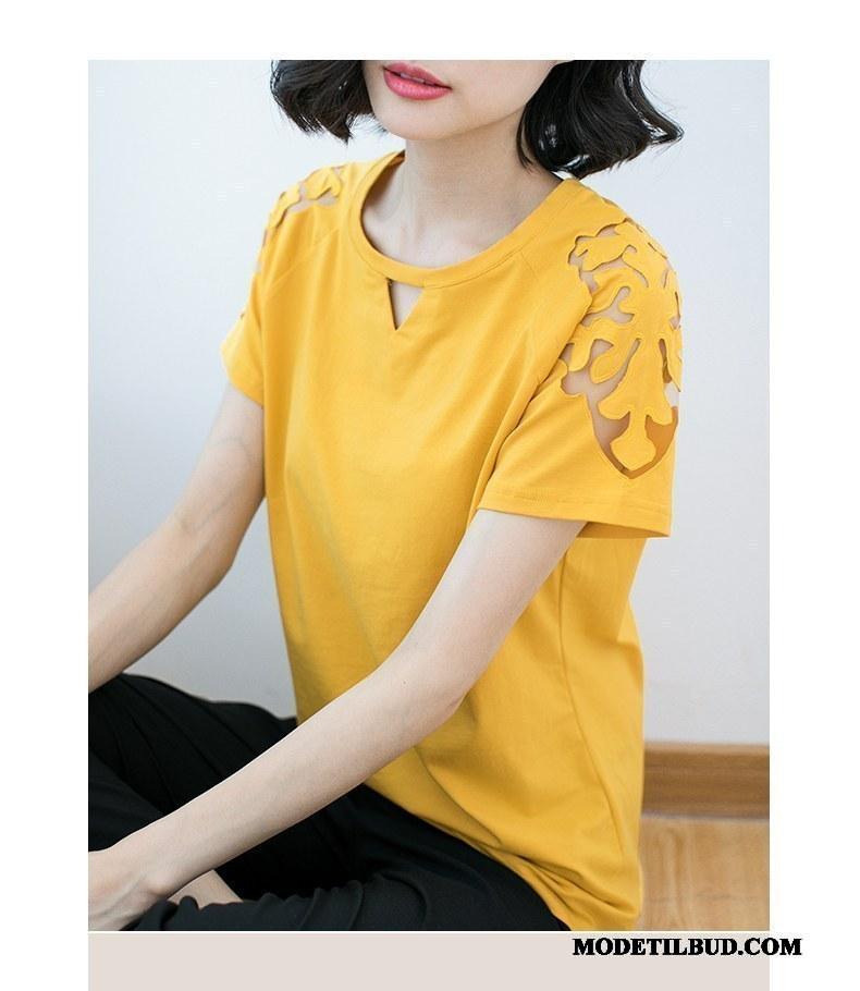 Dame T shirts Salg 2019 Slim Fit Store Størrelser Kvinder Jakke Gul