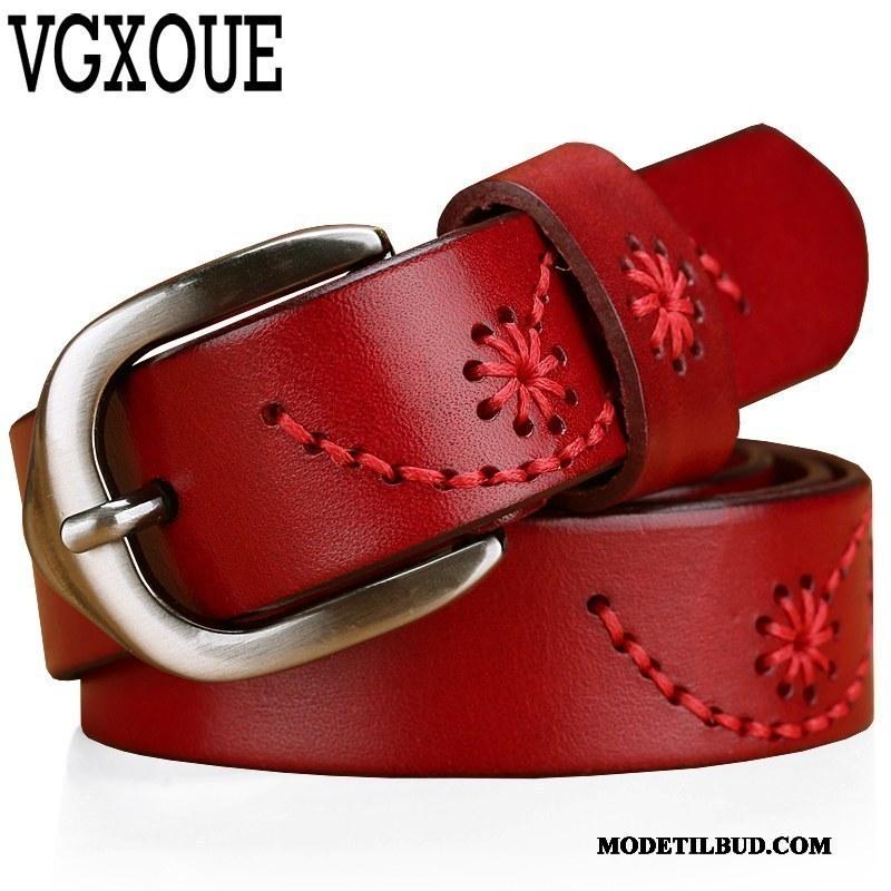 Dame Bælter Butik Trend Læder Top Casual Læder Bælte Ægte Læder Rød