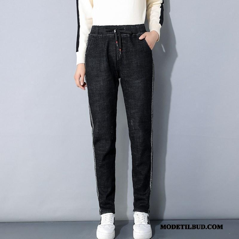 Dame Bukser Udsalg Ny Brede Kvinder Tynde Cowboybukser Jeans Sort