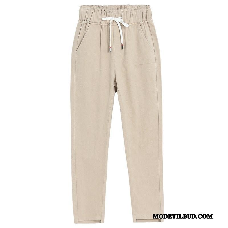 Dame Bukser Udsalg Tynde Casual Bukser Simple Mode Efterår Ren Abrikosfarve