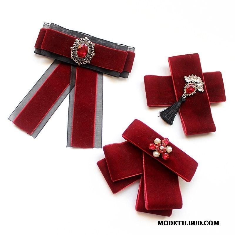 Dame Butterfly Billige Cardigan Kvinder Tilbehør Erhverv Skjorte Rød Sølv