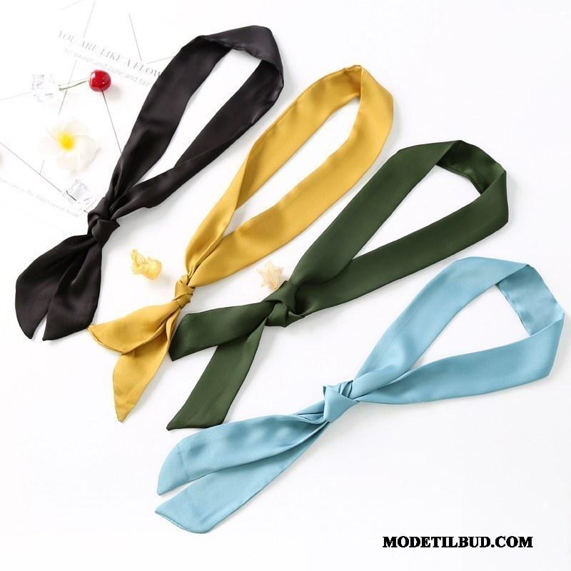 Dame Butterfly Billige Kunst Tørklæde Silke Hårbånd Alt Matcher Grøn