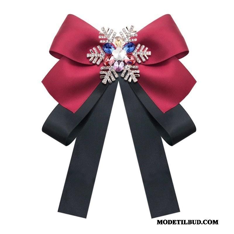 Dame Butterfly Billige Mode Snefnug Skjorte Collar Blomst Kvinder Rød