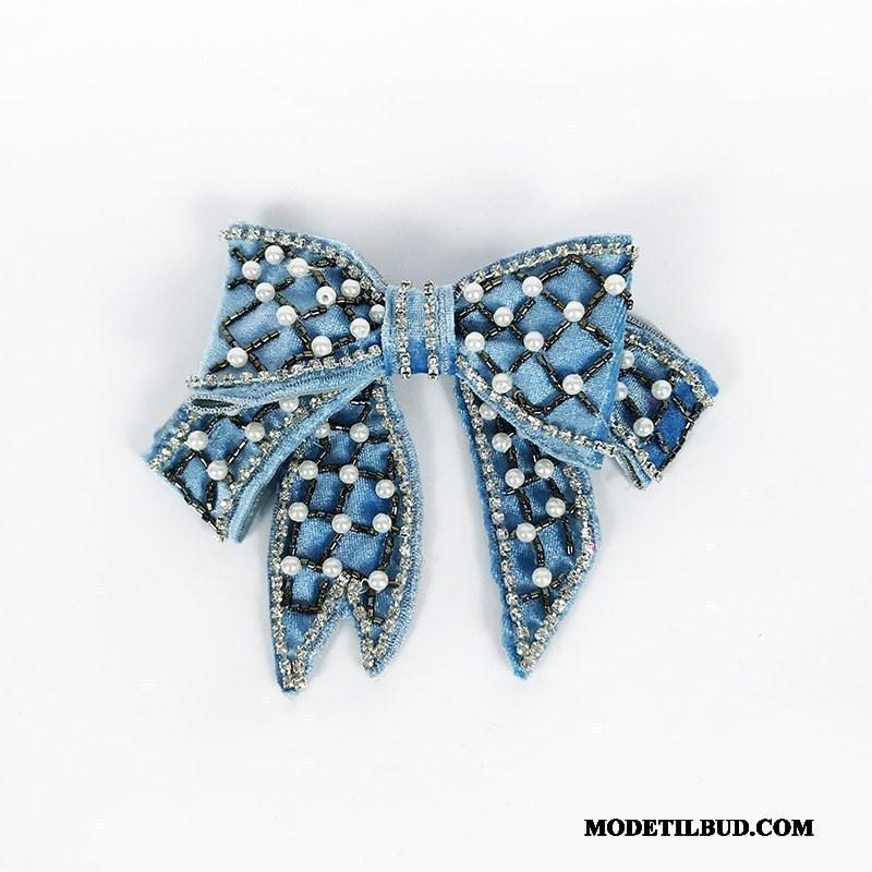 Dame Butterfly Billige Skjorte Vintage Duftende Tilbehør Corsage Blå