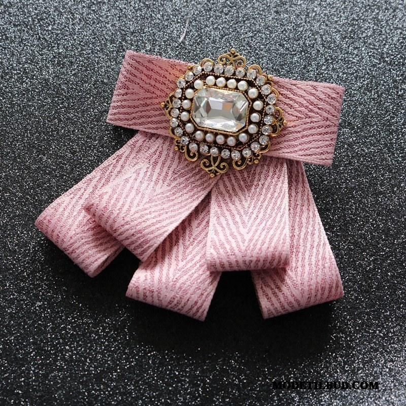 Dame Butterfly Salg Collar Blomst Kvinder Ny Erhverv Tilbehør Lyserød Sølv