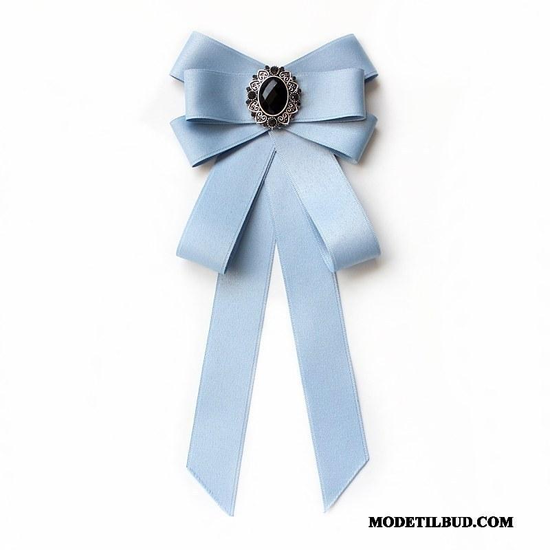 Dame Butterfly Salg Steward Skoleuniform Skjorte Collar Blomst Erhverv Sølv Blå