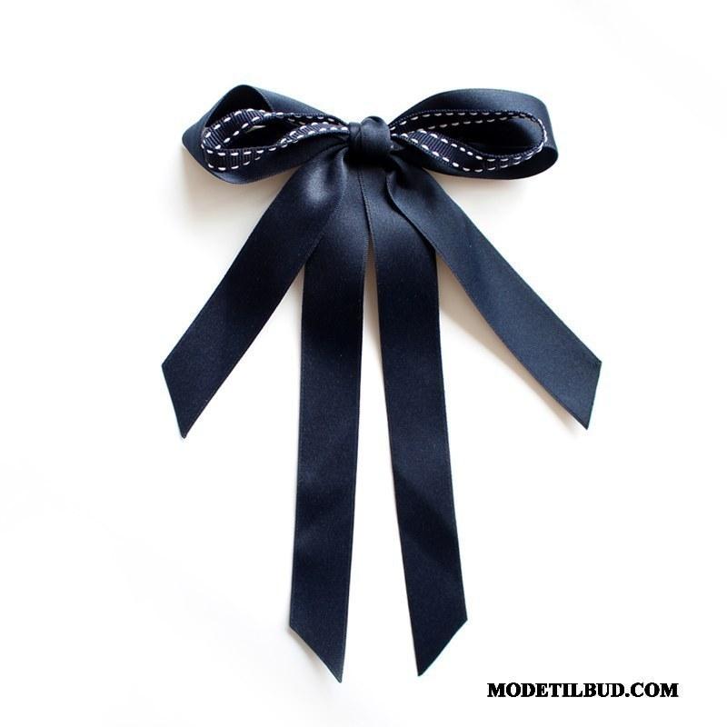 Dame Butterfly Tilbud Elegante Brocher Kvinder Collar Blomst Tilbehør Mørkeblå Blå