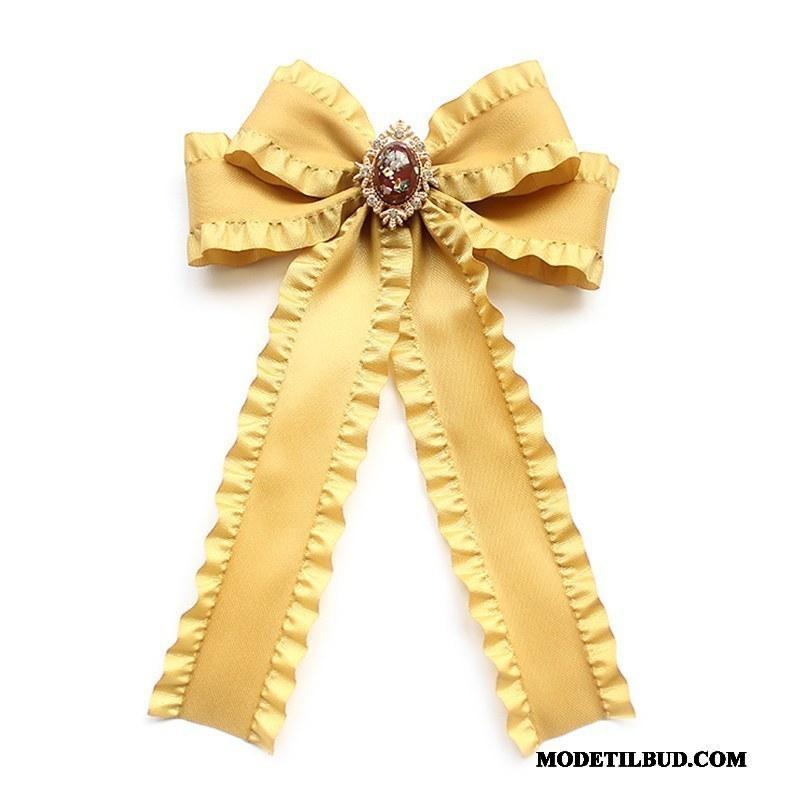 Dame Butterfly Tilbud Kvinder Stor Pige Uniform Collar Blomst Gul