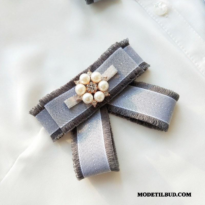 Dame Butterfly Tilbud Perle Hver Dag Sød Kvinder Lille Grå
