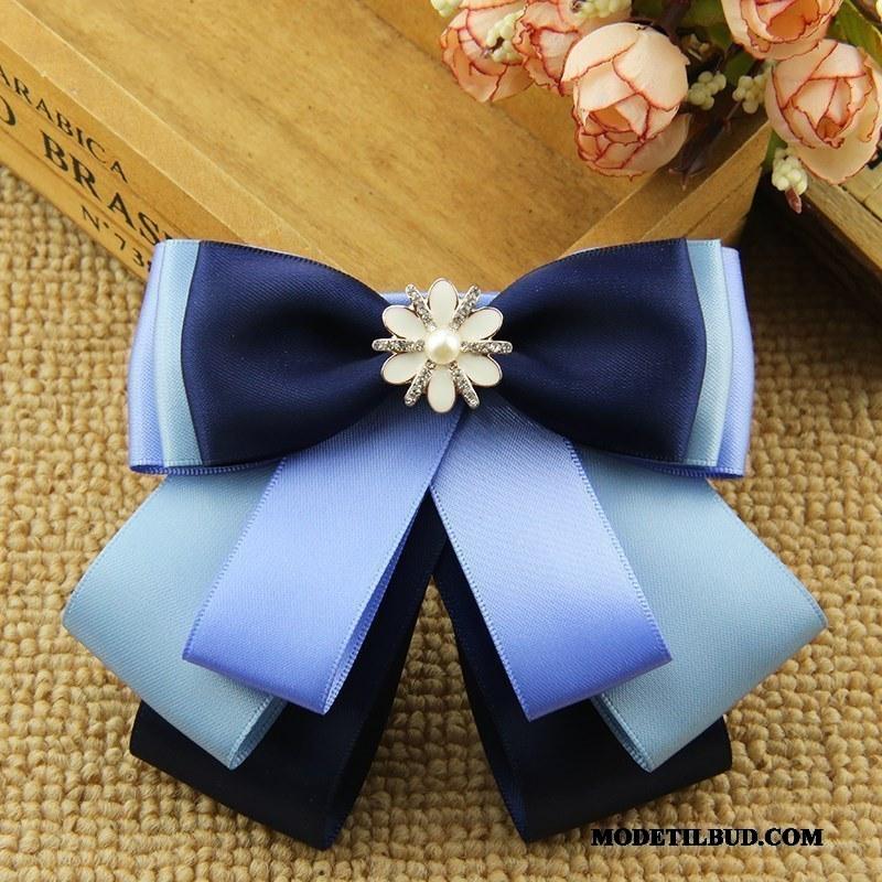 Dame Butterfly Tilbud Skjorte Kvinder Steward Alt Matcher Erhverv Sølv Blå
