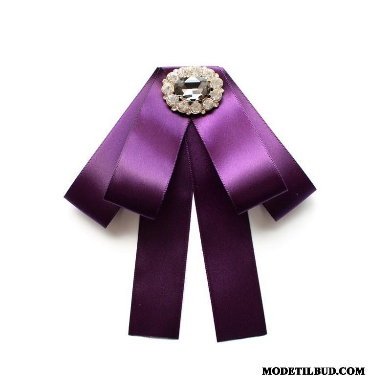 Dame Butterfly Tilbud Uniform Collar Blomst Dokumentation Kvinder Britisk Lilla Sølv