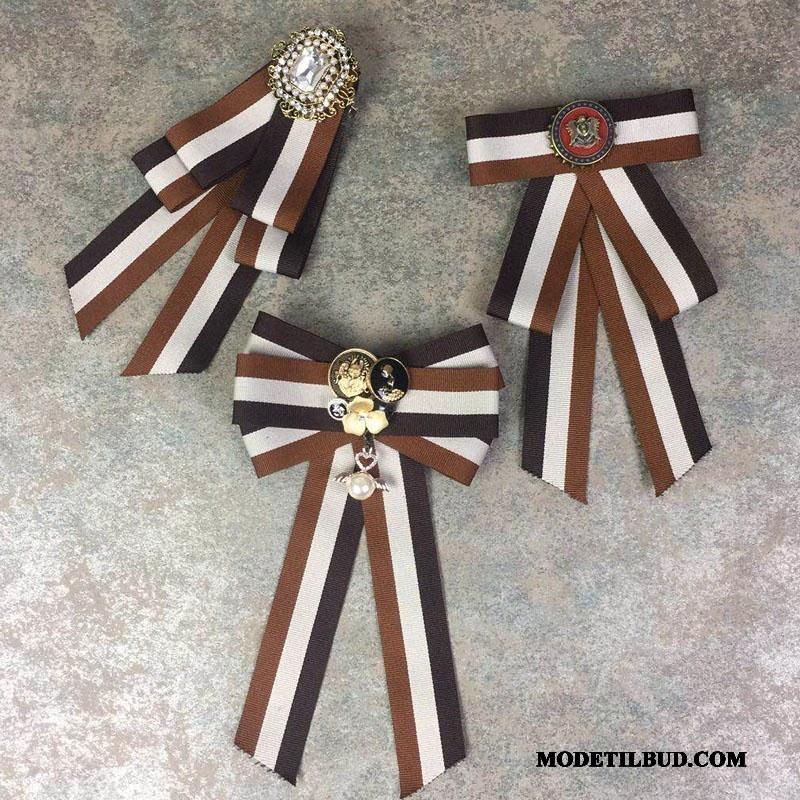 Dame Butterfly Udsalg Collar Blomst Tilbehør Steward Pige Erhverv Sølv Brun