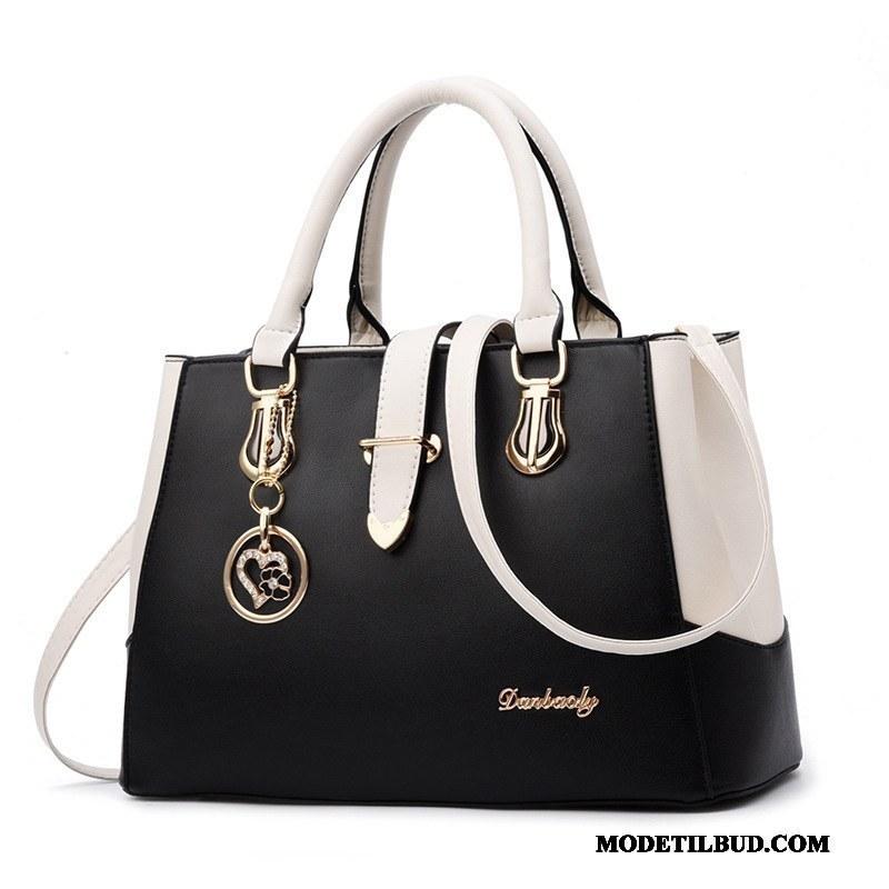 Dame Håndtasker Billige Elegante Store Tasker Ny Mode Kvinder Sort