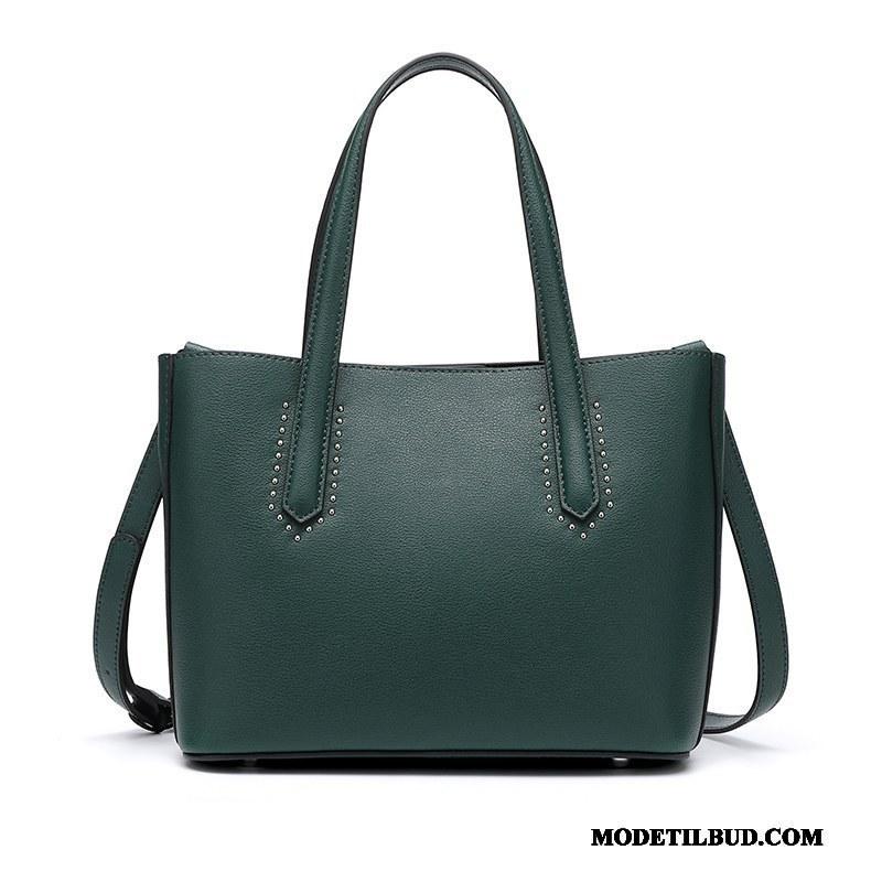 Dame Håndtasker Rabat Hver Dag Elegante Læder Top Ny Kvinder Grøn