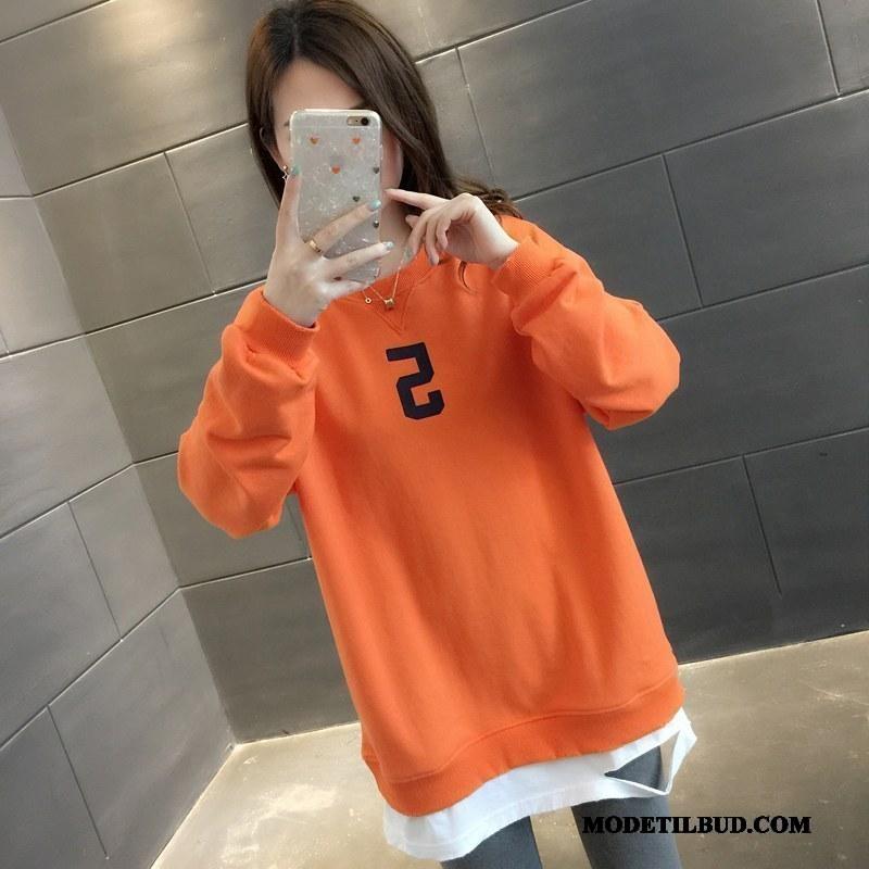 Dame Hættetrøjer På Udsalg Forår Brede Kvinder Super 2019 Gul Orange
