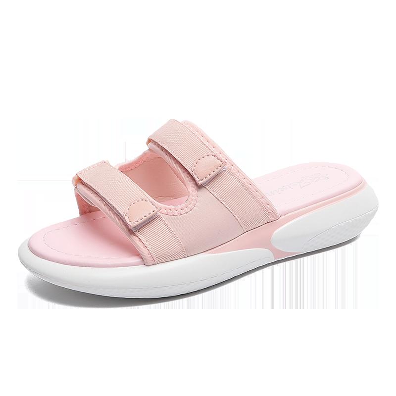 Dame Hjemmesko Butik Tykke Såler Mode Overtøj 2019 Alt Matcher Pink Rød