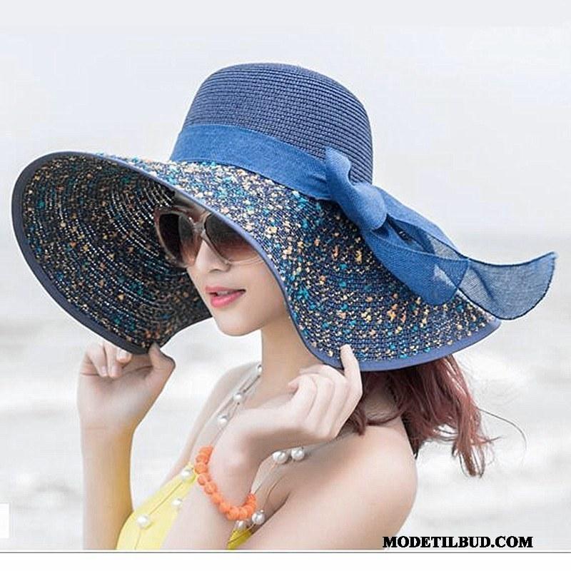 Dame Huer Billige Kvinder Solen Solhatte Strand Rejse Sand Blå