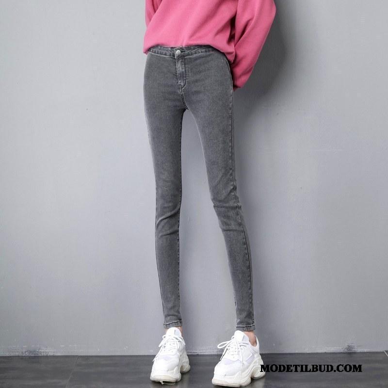 Dame Jeans Billige Cowboybukser Jeans Studerende Ny Tynde Skinny Grå