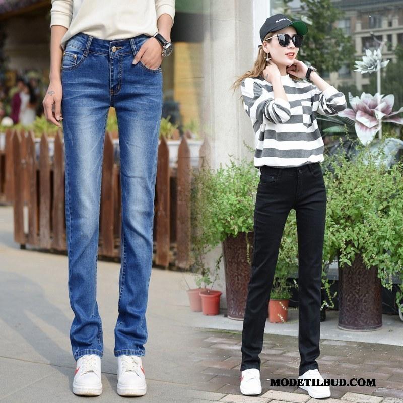 Dame Jeans Tilbud Brede Tynde Forår Store Størrelser Lige Sort
