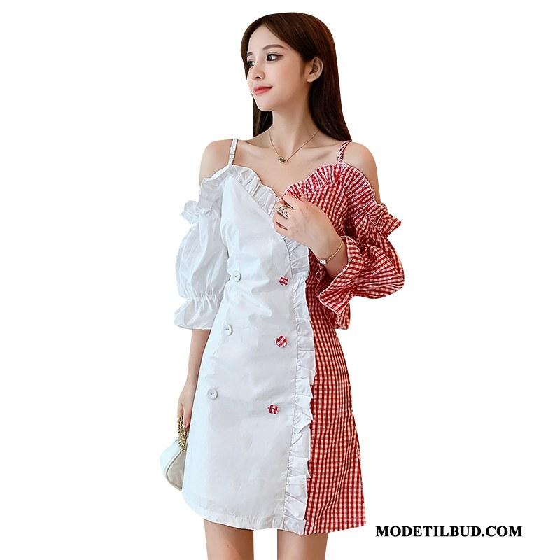 Dame Kjoler Tilbud Sommer Mode Kvinder Ny Elegante Hvid