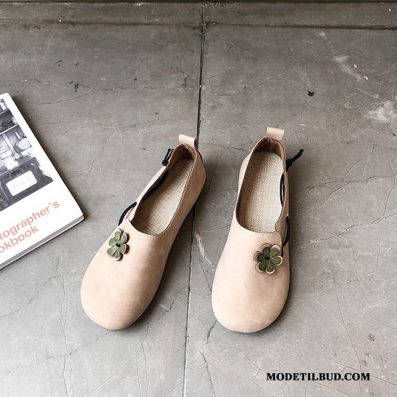 Dame Mokassiner Udsalg Vintage Enkelt Sko Slip On Flade 2019 Lyserød Lyse