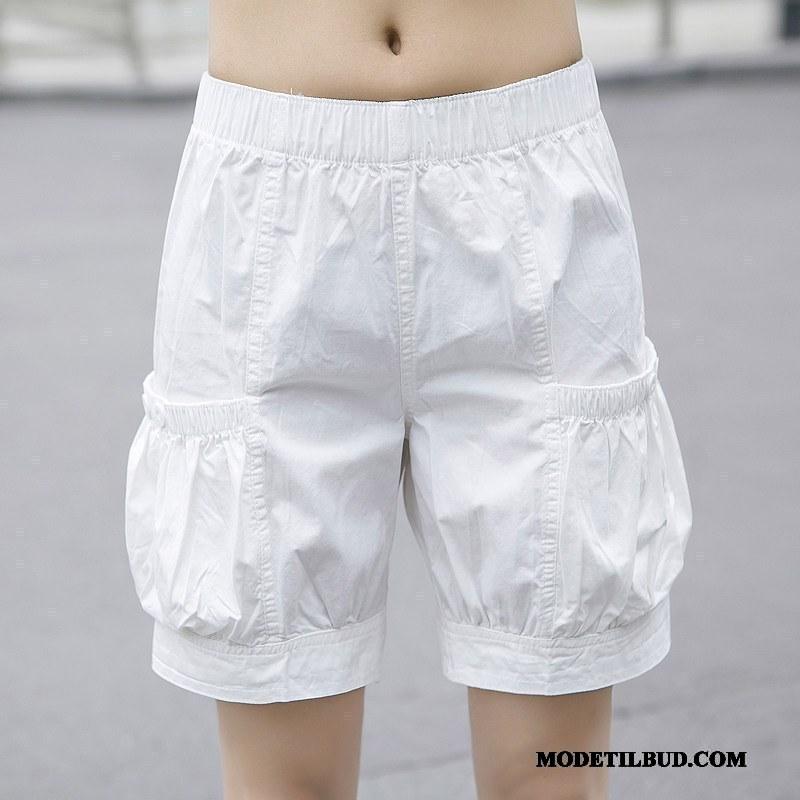 Dame Shorts Billig Fedt Elastisk Fritids Sport Sommer Sand Hvid