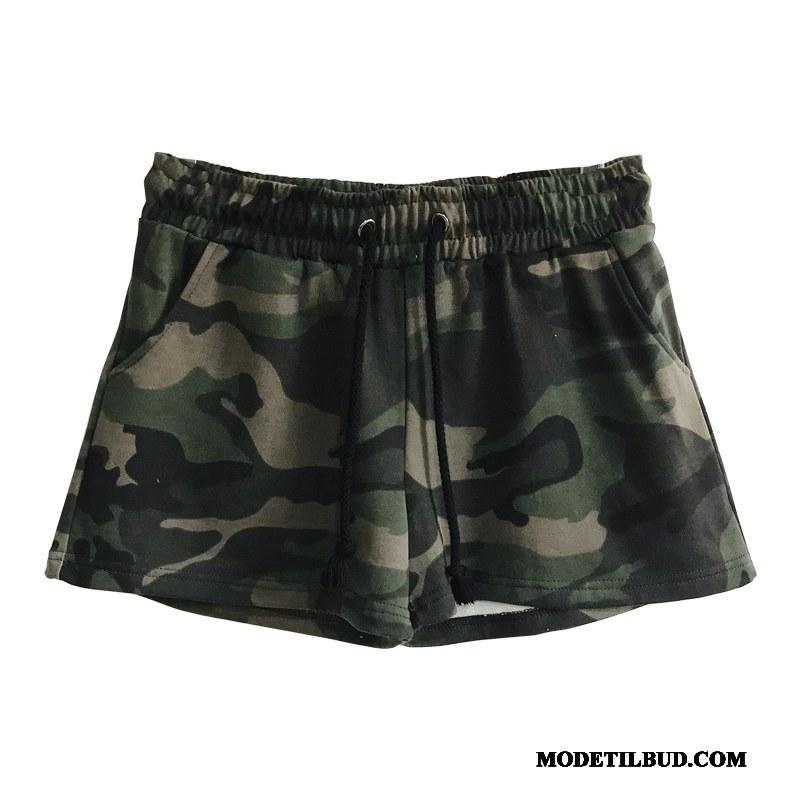 Dame Shorts Billige Elskeren Sweatbukser Kvinder Brede Ny Militærgrøn Camouflage Sand