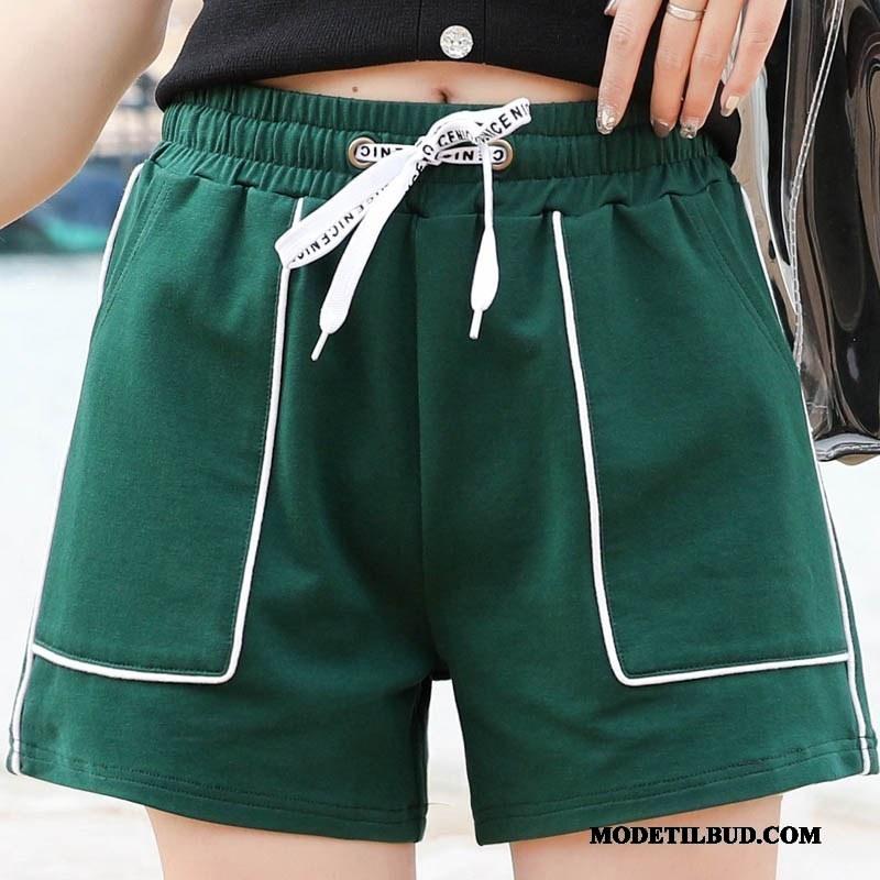 Dame Shorts Billige Hot Bukser Kvinder Høj Talje Bomuld Overtøj Grøn