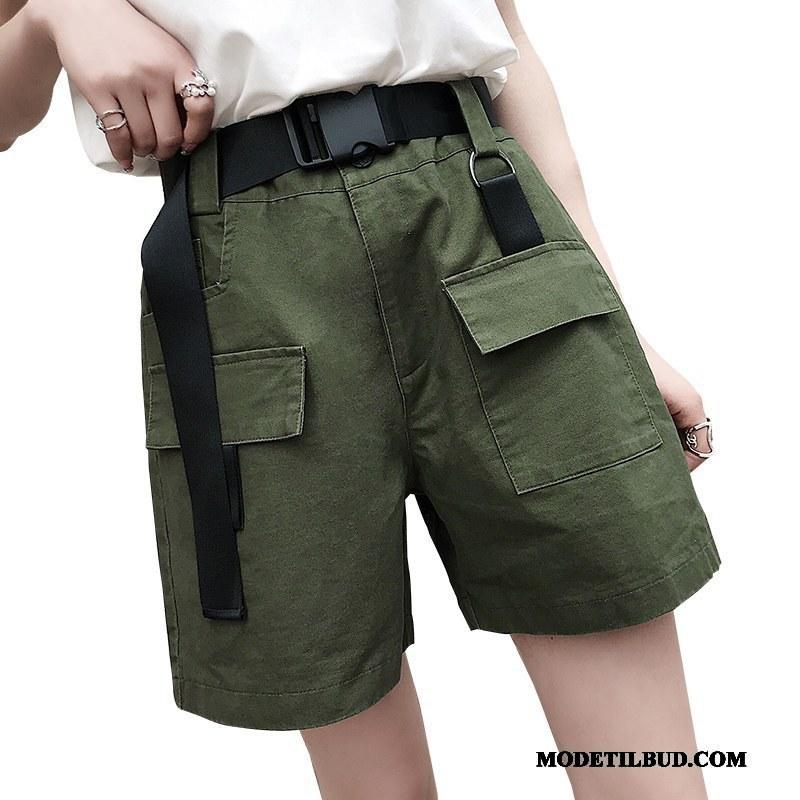 Dame Shorts Online Ny Fritids Kvinder Lige Bukser Militærgrøn