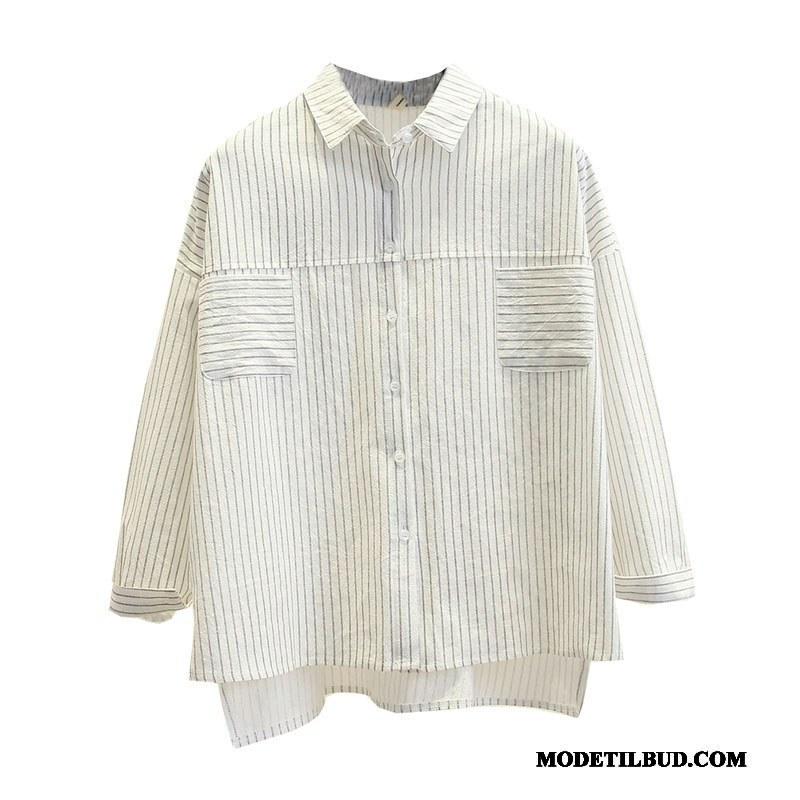Dame Skjorter På Udsalg Revers Jakke Bluser Skjorter 2019 Lange Hvid