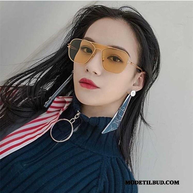 Dame Solbriller Billige Mænd Nærsynethed Trend Europa Damer Farve Gul