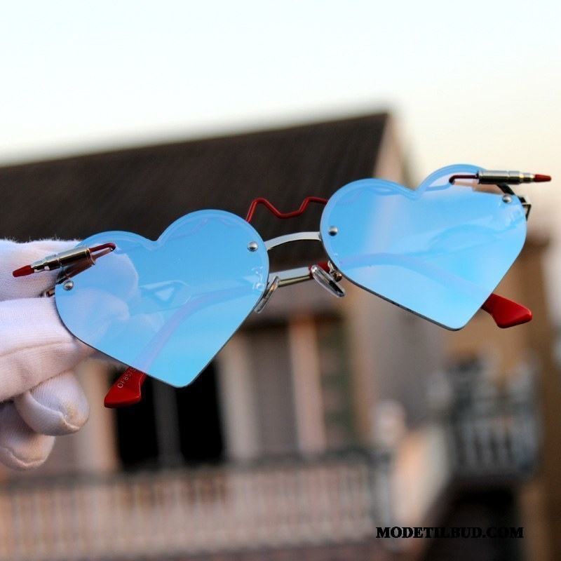 Dame Solbriller Tilbud Hjerte Kvinder Rejse Trend Kærlighed Sand Rød Blå