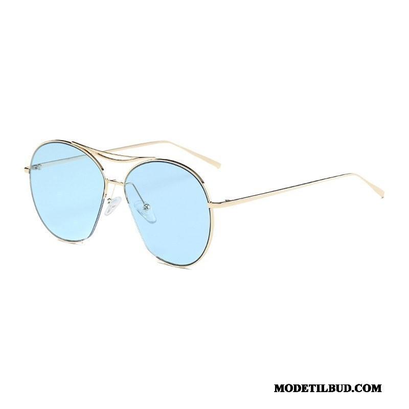 Dame Solbriller Tilbud Stor Kvinder Trend Gennemsigtig Nærsynethed Sand Lyserød Sølv Blå