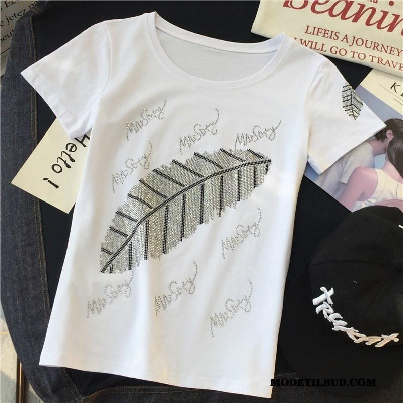 Dame T-shirts Udsalg Sommer Mode Kvinder Ny Kort Ærme Hvid