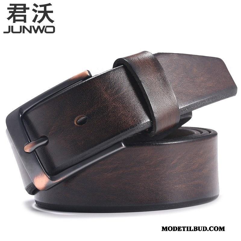 Herre Bælter Køb Vintage Læder Bælte Cowboybukser Ægte Læder Mode