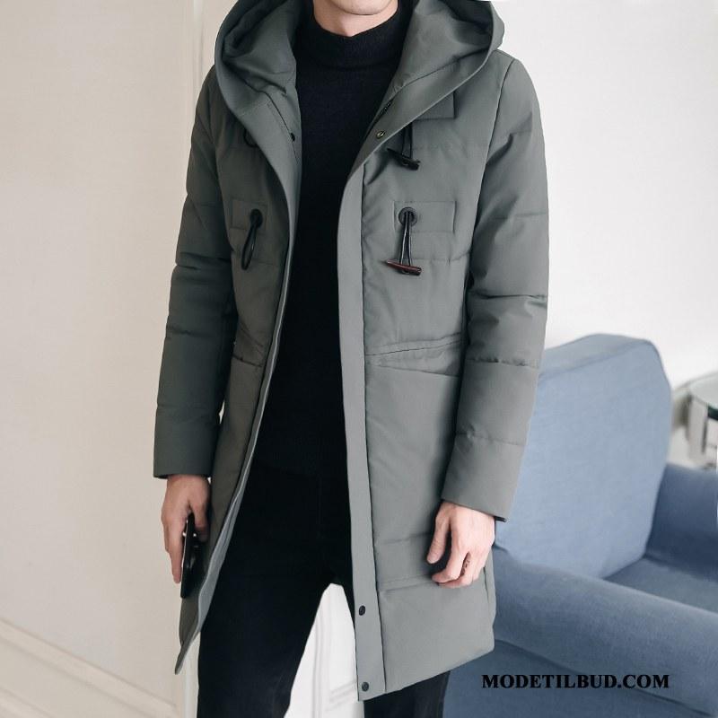 Herre Bomuld Jakke Billige Vinter Vinter Tøj Frakke Varme Bomuldsjakke Ren Grå