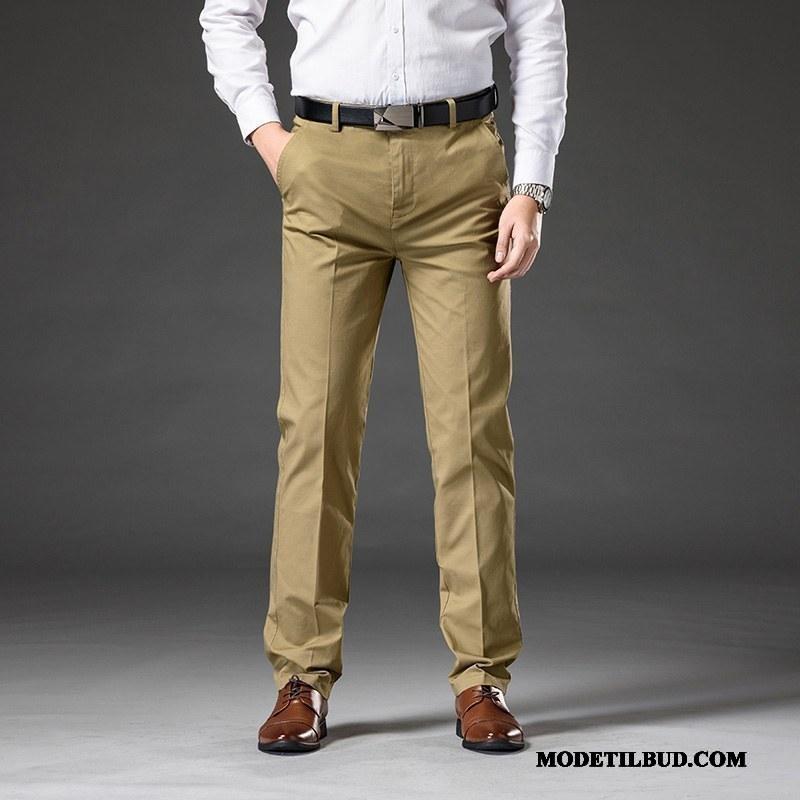 Herre Bukser Rabat Store Størrelser Trend Lige Brede Casual Bukser Khaki
