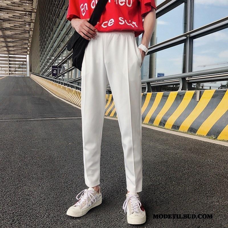 Herre Bukser Tilbud Ny Åndbare Mænd Fritids Mode Hvid