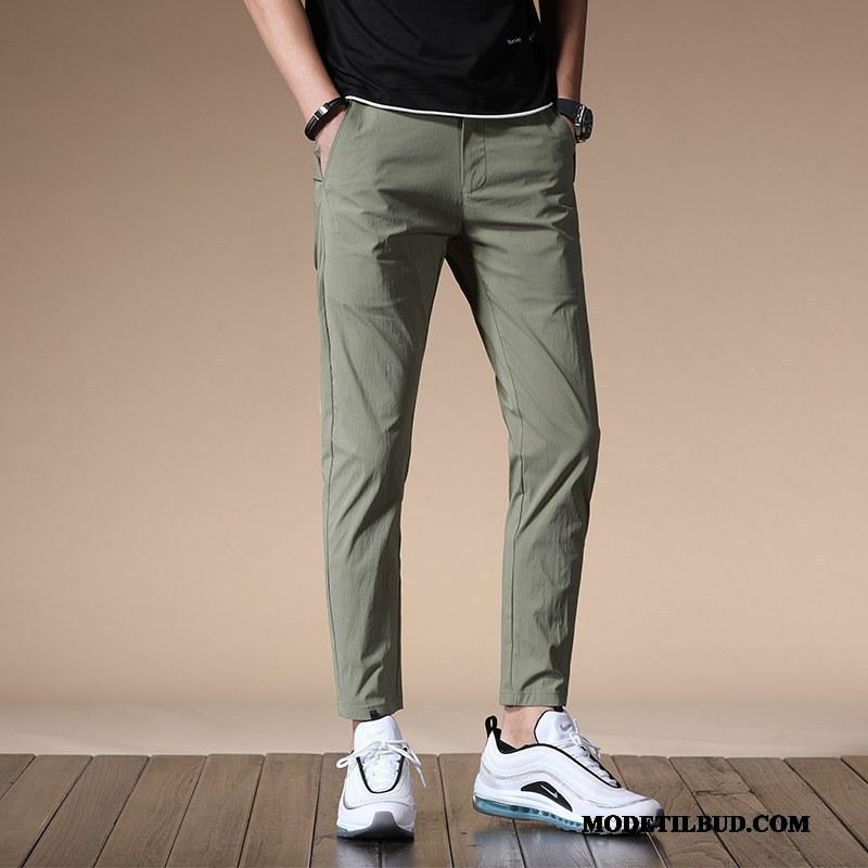 Herre Bukser Udsalg Trend Elastisk Lille Sektion Slim Fit Casual Bukser Militærgrøn