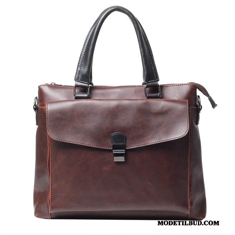 Herre Håndtasker Billige Vintage Mænd Business 2019 Britisk Brun
