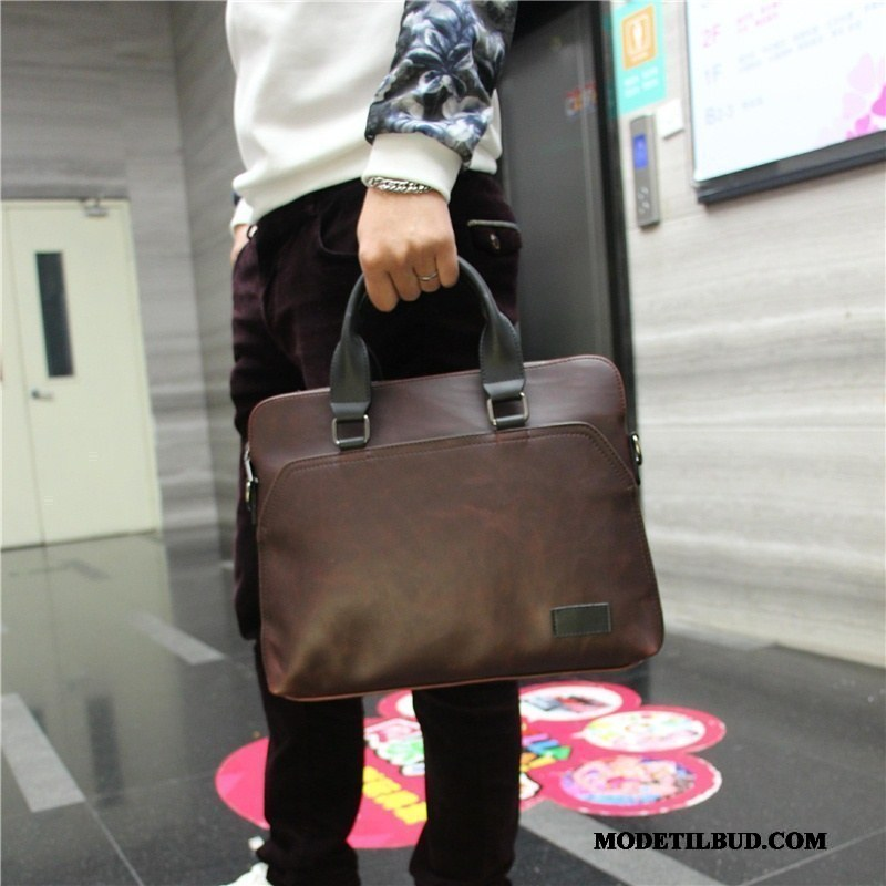 Herre Håndtasker Rabat Skuldertaske 2019 Rygsæk Computertaske Casual Brun