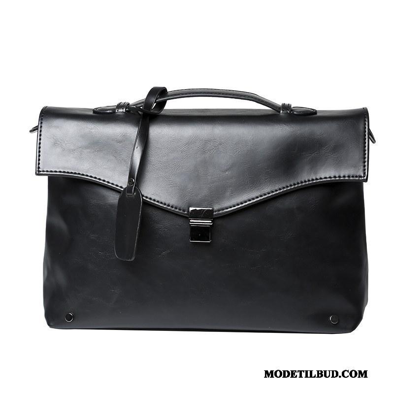 Herre Håndtasker Salg Rejsetaske Skuldertaske Ny Trend Kuvert Sort