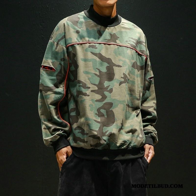Herre Hættetrøjer Salg Trend Forår Jakke Tryk Pullover Camouflage Grøn