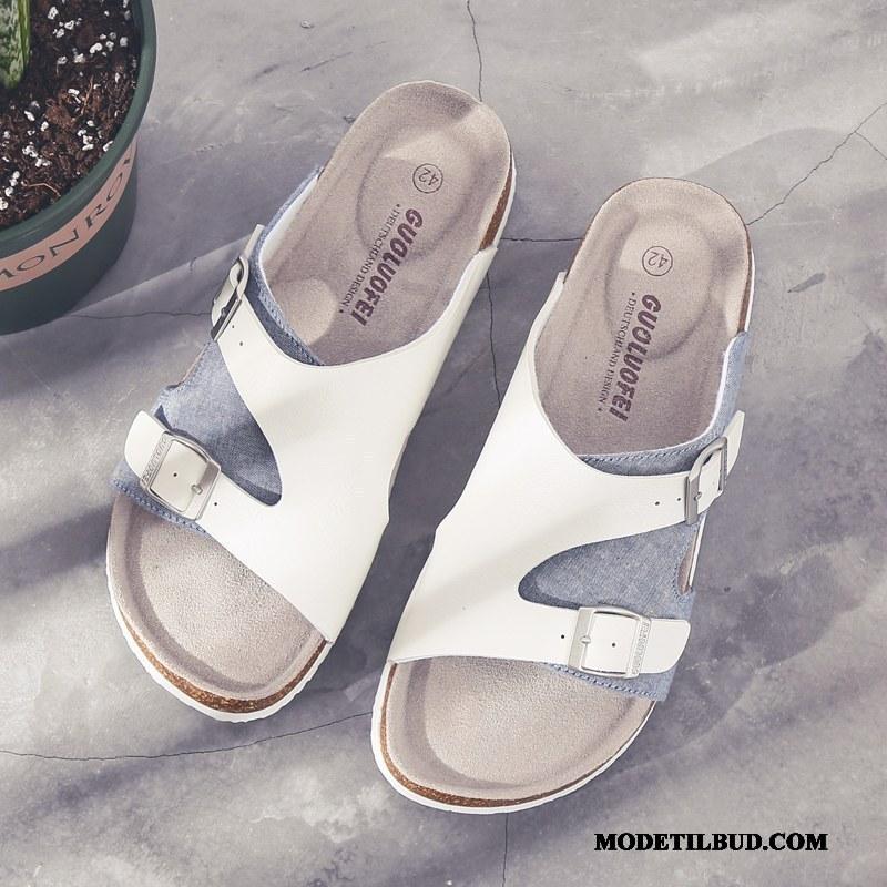 Herre Hjemmesko Salg Sommer Britisk Trend Klud Mode Sand Hvid