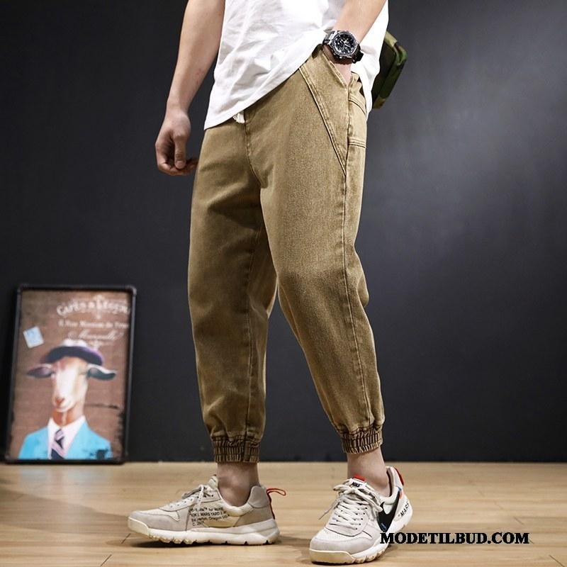 Herre Jeans Billige Forår Bukser Cowboybukser Harlan Brede Khaki Sort