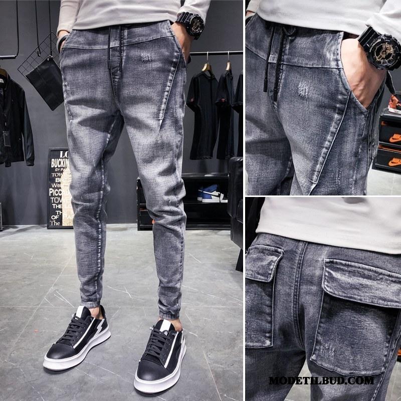 Herre Jeans Billige Lille Sektion Slim Fit Cowboybukser Trendy Brede Blå