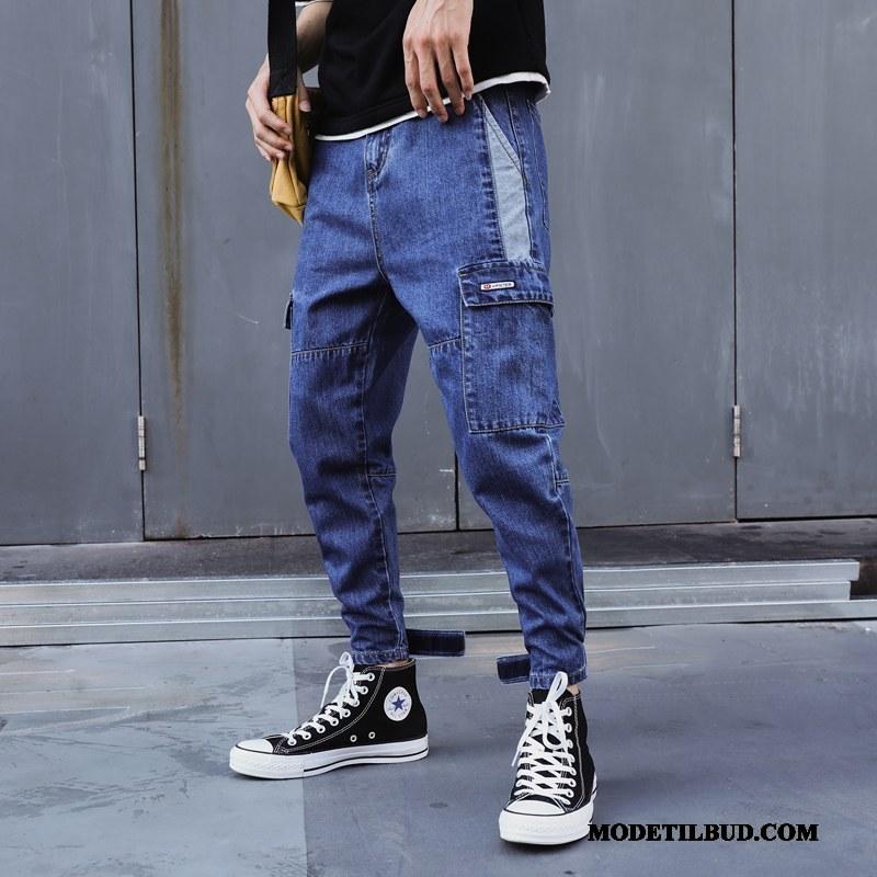 Herre Jeans Billige Mænd Brede Trendy Harlan Denim Lyse Blå