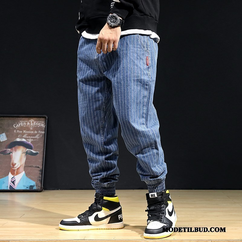 Herre Jeans Butik 2019 Harlan Trend Brede Bukser Blå